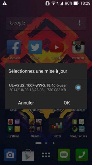 Comment mettre à jour son ZenFone 5