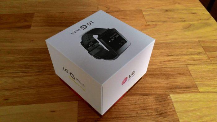 Déballage de la LG G Watch