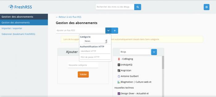 FreshRSS : Un lecteur RSS Libre à auto-héberger