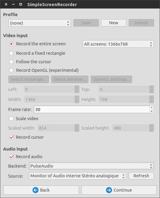 Enregistrez votre écran sous GNU/Linux avec SimpleScreenRecorder