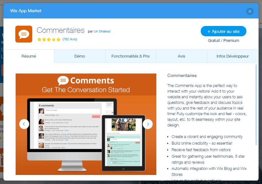 Créer son propre site web gratuitement avec Wix