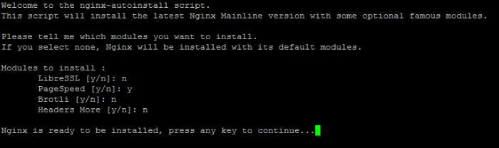 Compilier et installer Nginx avec le module PageSpeed sous Debian 8