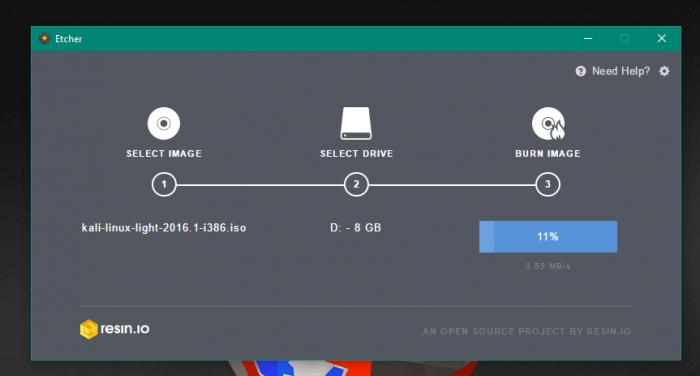 Créer une clé USB bootable simplement avec Etcher