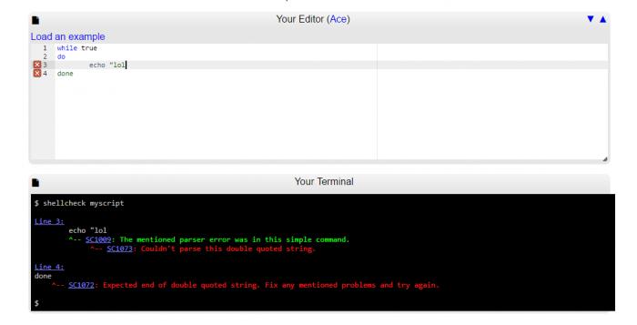 Vérifiez vos scripts bash avec ShellCheck