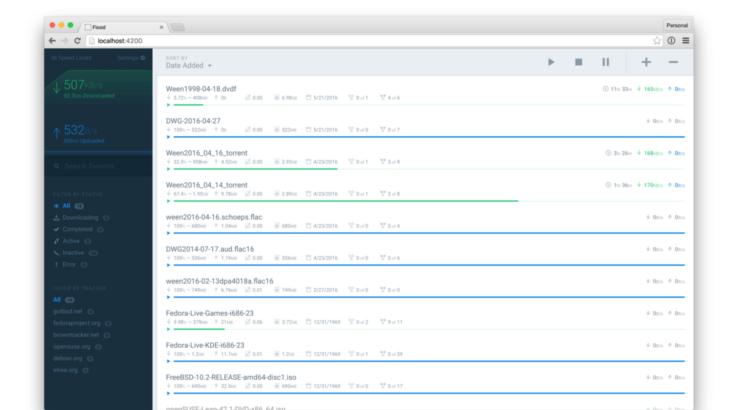 installer le client torrent Flood sous Debian8