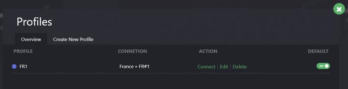 Liste profils ProtonVPN