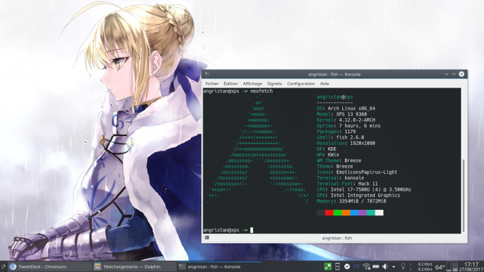 Arch Linux KDE neofetch