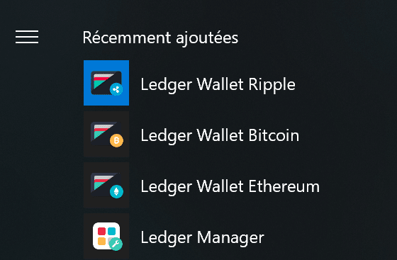 Application Ledger Nano S