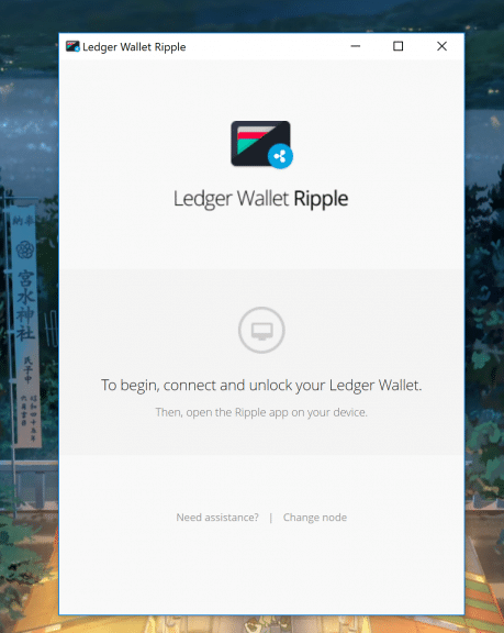 Ledger Nano S : wallet Ripple
